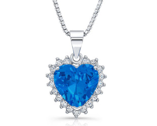 Heart-Sapphire Dazzling Valentine-Special Pendants