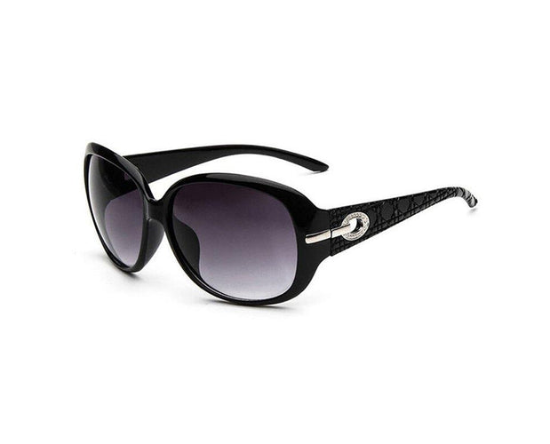 Oversize Shield Shape Vintage Sunglasses