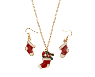 Santa's Stocking Necklace and Earring Set