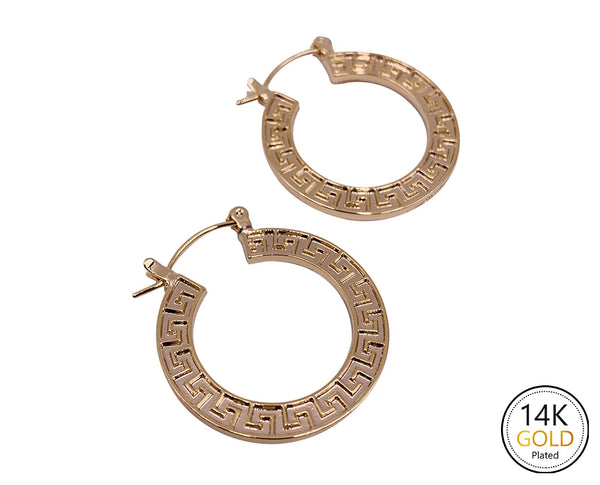 Greek Key Styled Earrings