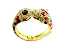Multicolor Rhinestone Cheetah Bangle