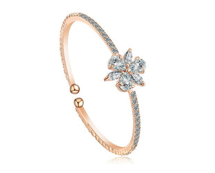 Floral Rose Gold Bangle