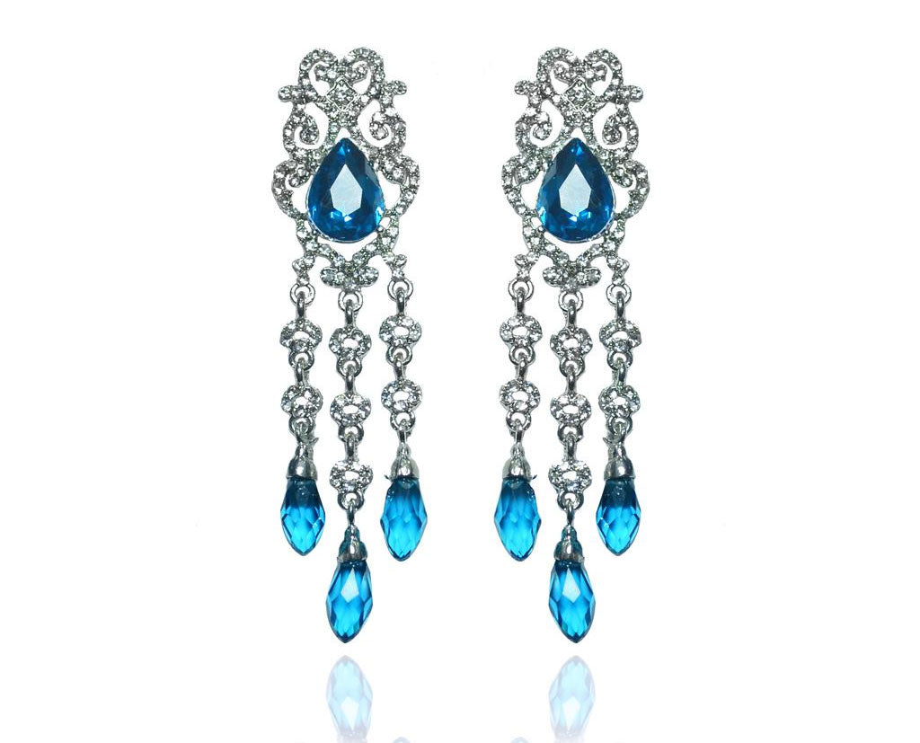 Luxurious Blue Drop Earrings