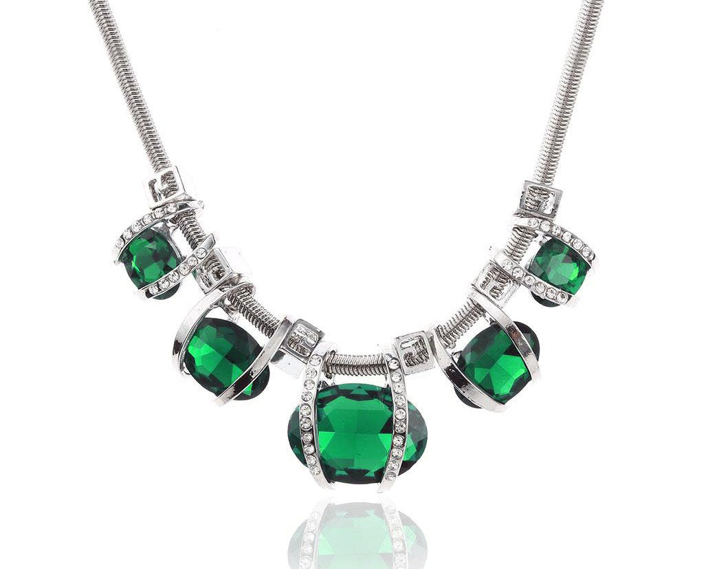Emerald Eclipse Gem Statement Necklace