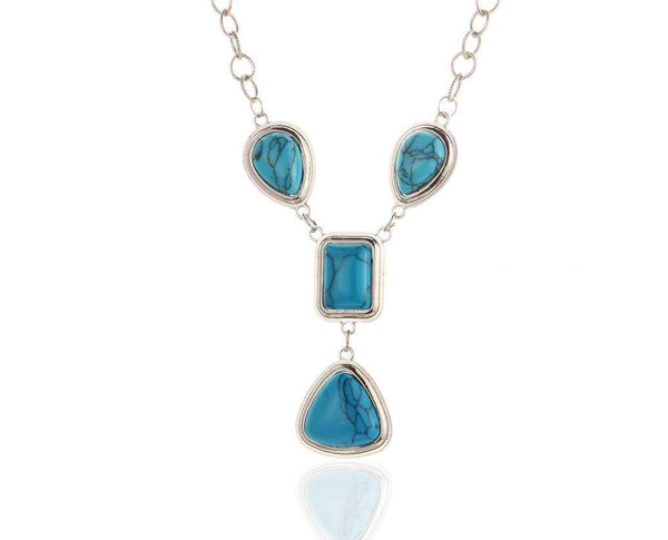 Blue Hue Turquoise Necklace Sales