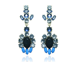 Blue Saphire Lux Chandelier Earrings