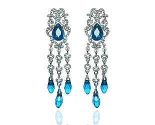 Luxurious BLue Chandelier Drop Earrings Sales
