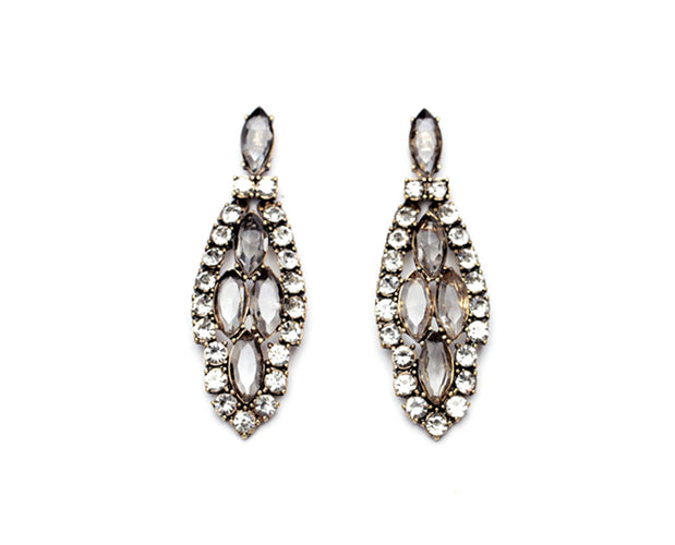 Vintage Crystal Long Earrings