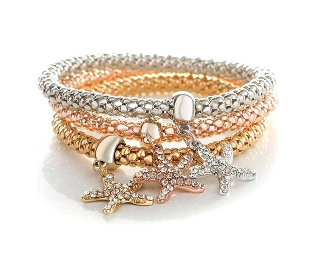 Star Fish Bonding Trio Charm Set