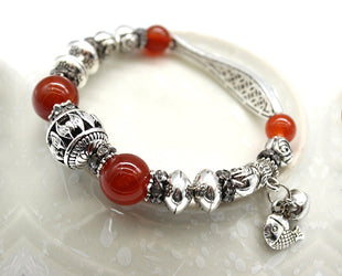 Handcrafted Designer Alloy Bracelet with Baroque Beads