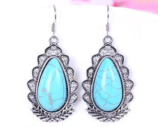 Turquoise Solitary Droplet Sturdy Danglers