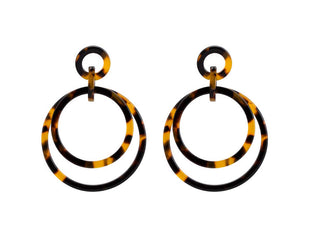 Double Tortoise Shell Earrings