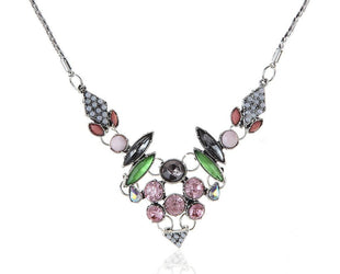 Art Deco Multicolored  Statement Necklace