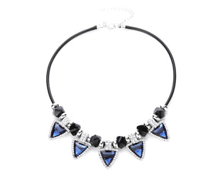 Geometric Sapphire Statement Necklace Sales