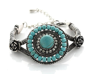 Antique Turquoise Beaded Bracelet