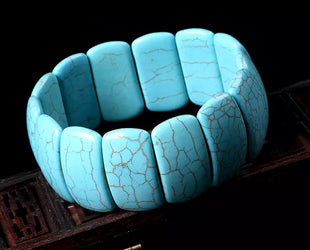 Rectangle Turquoise Boho Bracelet