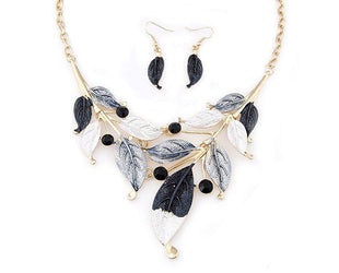 Smokey Ashtone Fall Leaves Necklace Set