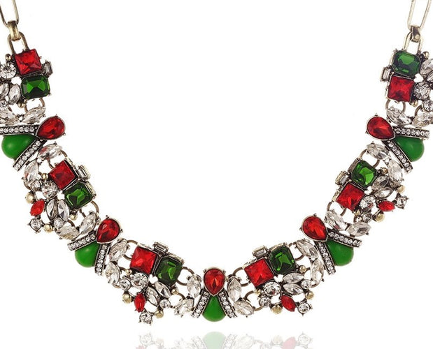 Happy Holiday Statement Necklace