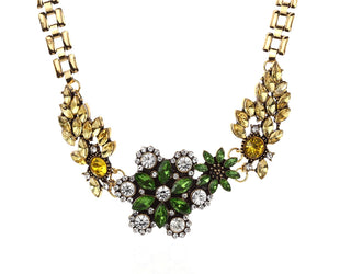Shimmering Gem Statement Necklace Sales