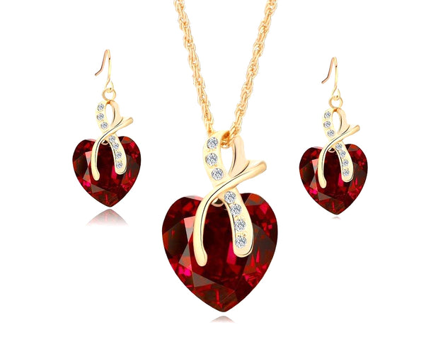 Big Heart Pendant Set