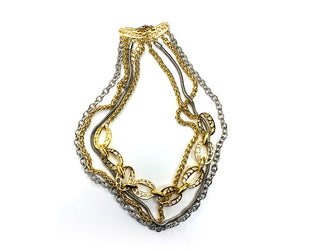 Multilayer Metallic Necklace