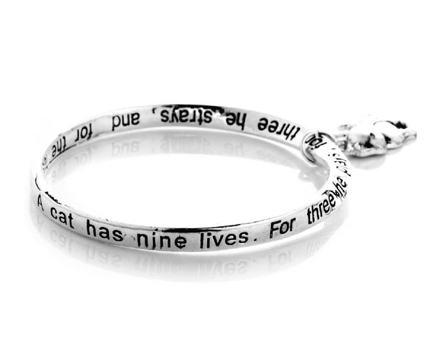 Cat's Life Engraved Poem Bracelet Sales