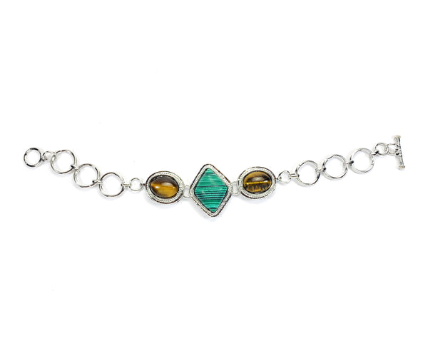 Elegant Multi gem studed Alloy bracelet