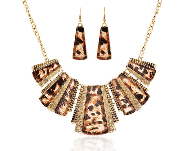 Panthera Interlinked Punk Necklace Set