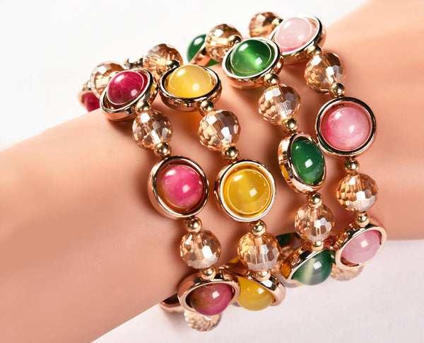 Colorful Agate Bracelet