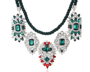 Emerald Estate Chandelier Necklace