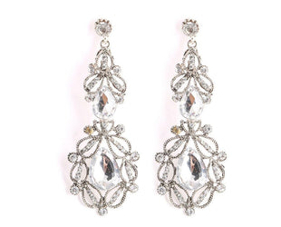 Clear Diamond Sweet Love Chandelier Earrings