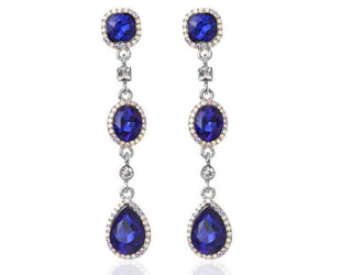 DUCHESS EMERALD CRYSTAL LUX CHANDELIER EARRINGS