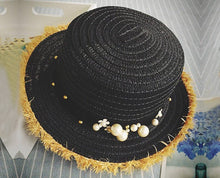 Pearl-studded Party Floral Hat