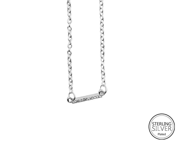 Linear Bar Rhinestone Necklace