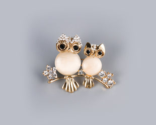 Divinely Duo Owl Pin