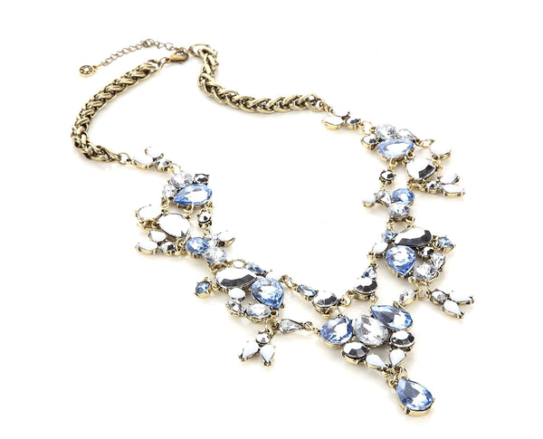 Iconic Chandelier Ocean Blue Majesty Statement Necklace