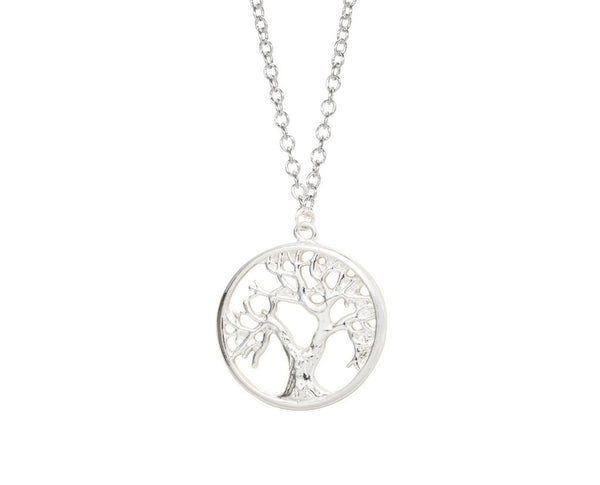 Tree Of Life Pendant Necklace with Initial and Birthstone