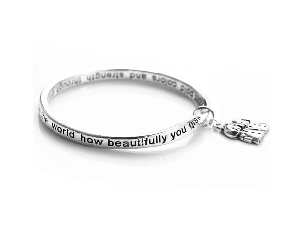 Sister Poem Bracelet With Sister Charms