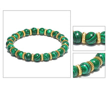 Golden Rings and Malachite Bracelet