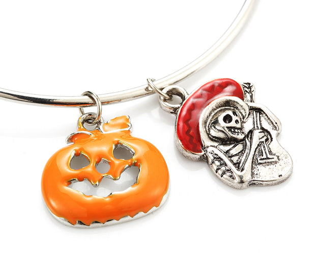 Halloween Spooky Charm Bangle