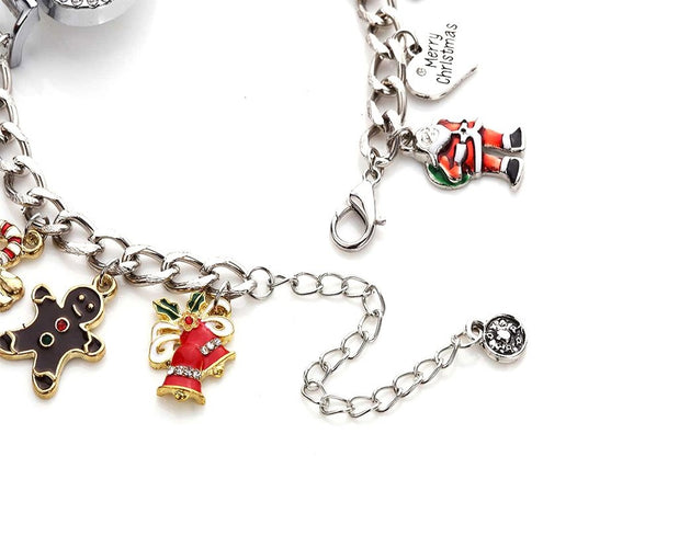 Adorable Merry Christmas Silver Analog watch