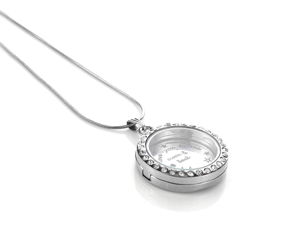 Mother Love Floating Charms Necklace
