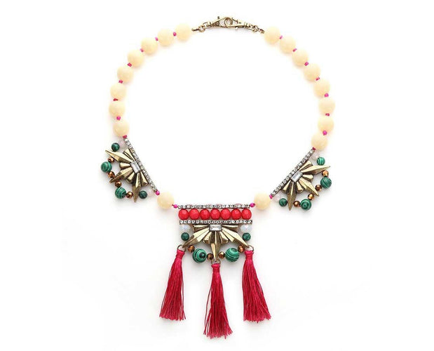 Eclectic Tassel Statement Necklace Sales
