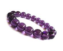 Translucent Sequential Purple Bead Bracelet