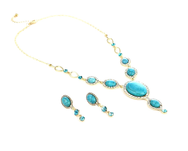 Blue Nile Turquoise Necklace Set