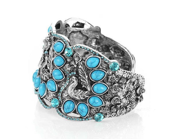 Peacock Turquoise Cuff