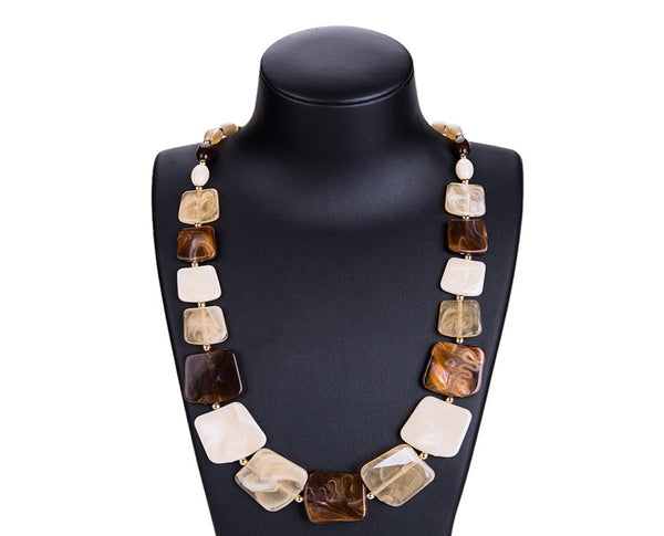 Chip-Cut Crystal Statement Neckpiece