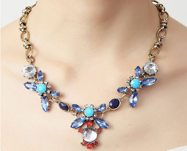 Pacific Blues Power Chic Statement Necklace