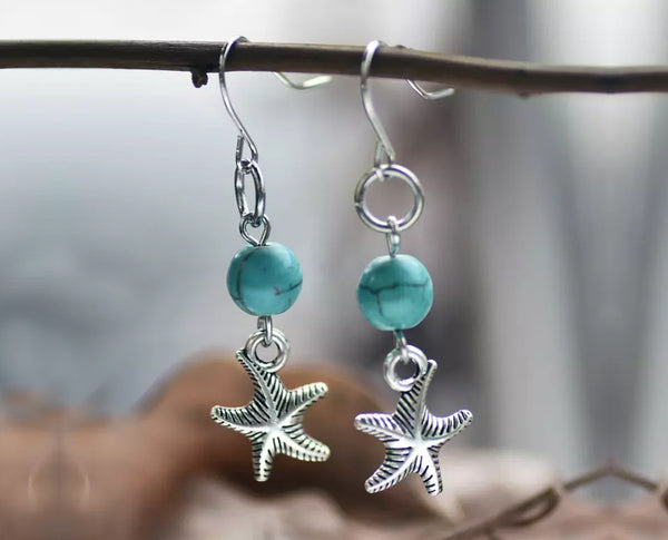 Starfish Turquoise Earrings