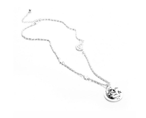 I LOVE YOU TO MOON & BACK ANGEL NECKLACE